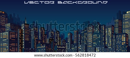 City Night Skyline