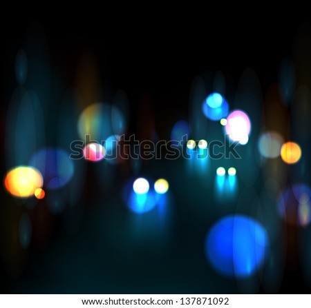 city nightlife  neon light eps