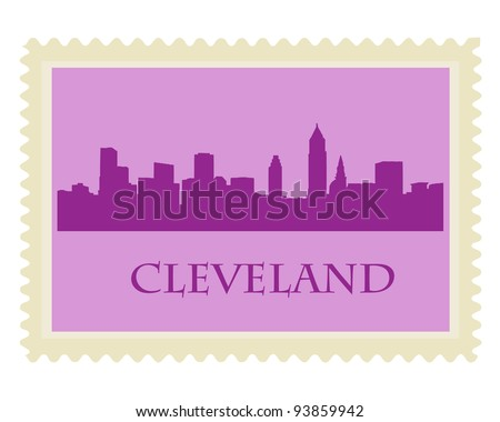City of Cleveland high-rise buildings skyline