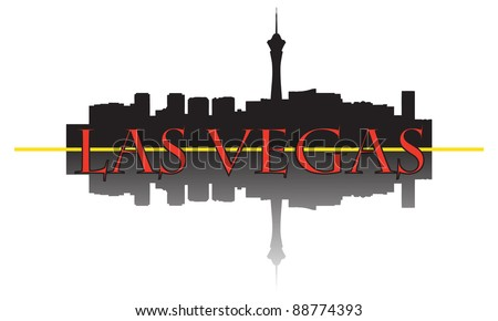 City of Las Vegas high-rise buildings skyline.