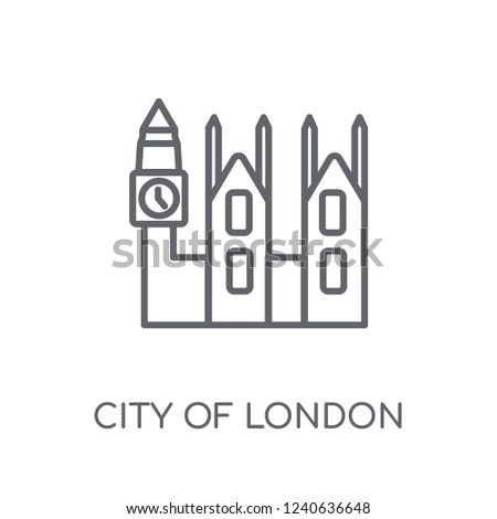 city of london linear icon