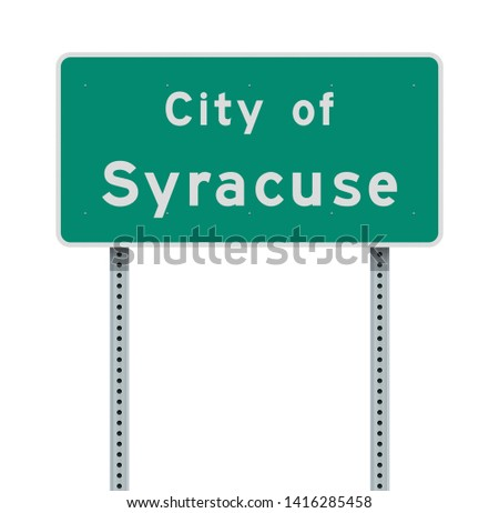 City of Syracuse road sign