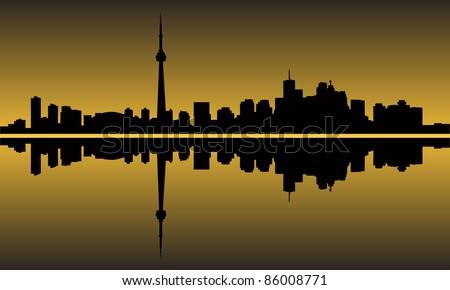 City of Toronto high rise buildings skyline