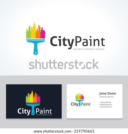 city paint home logo city logo