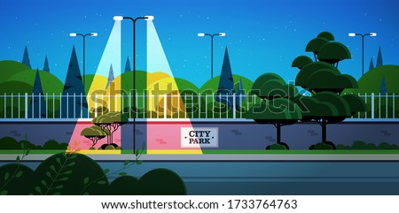 city park banner on fence