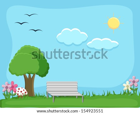 city park   cartoon background