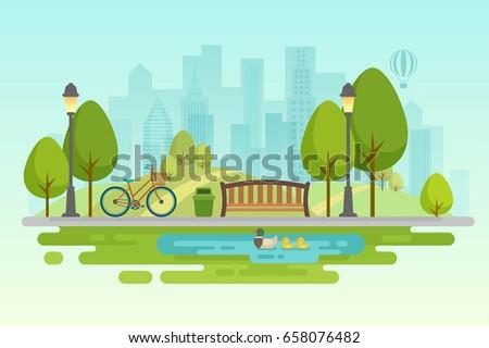 city park urban outdoor decor