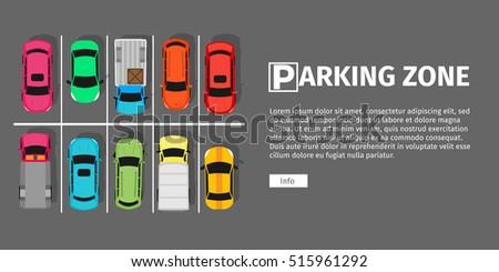 city parking vector web banner