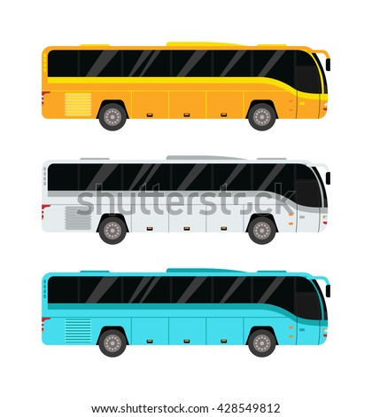 City public bus and vehicle transportation city bus vector