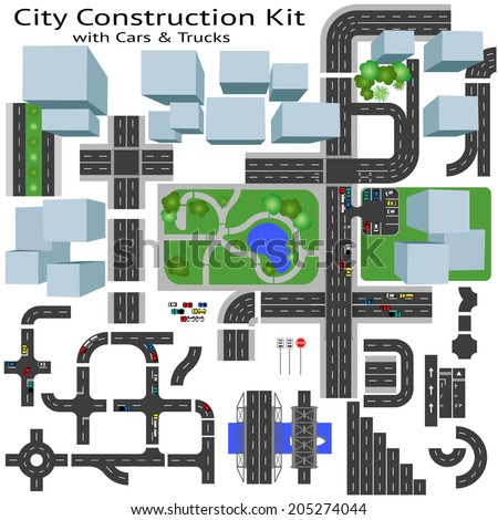 City Road construction Kit to Build your own, see my portfolio for other kits