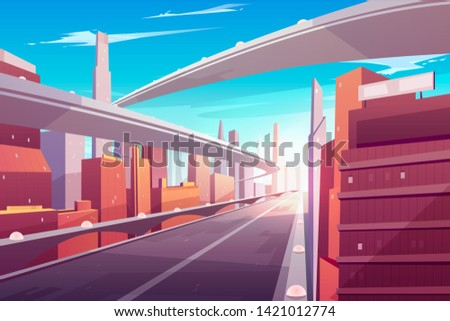 city road  empty streetscape