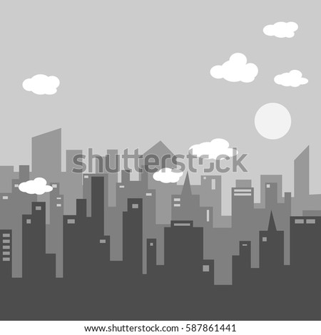city silhouette and city