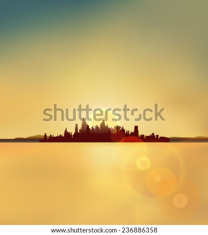 city silhouette background in