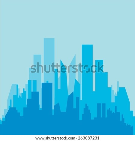 City silhouette. Buildings icon