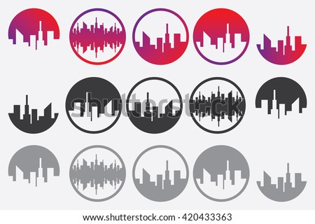 city silhouette logo vector