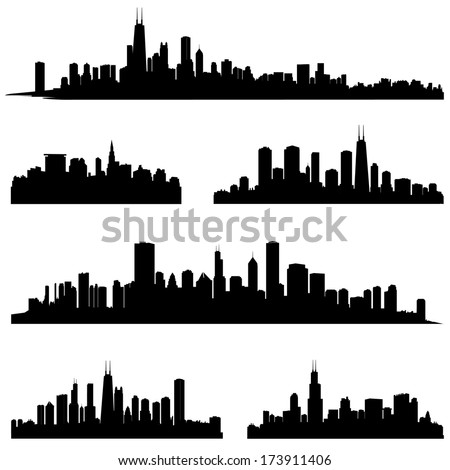 city silhouettes chicago