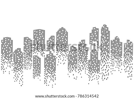 City skyline background vector illustration