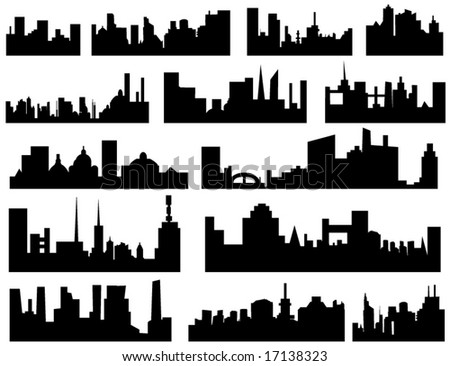 new york city skyline outline. stock vector : City skyline