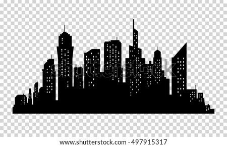 city skyline in grey colors