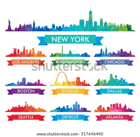 city skyline of america