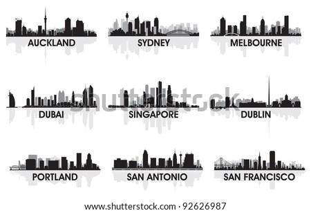 City skyline set