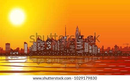city skyline silhouette at