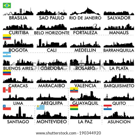 city skyline south america
