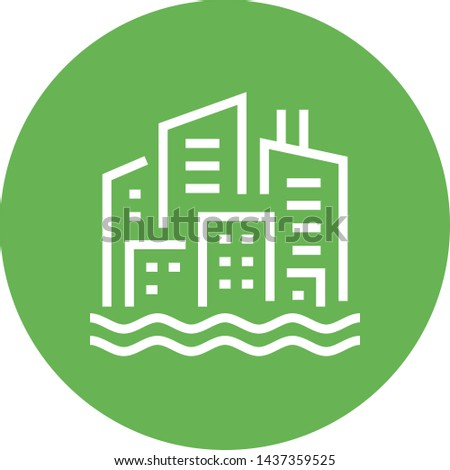City Skyline Waterfront Outline Icon  Stock photo ©