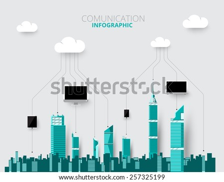 city skylines background vector