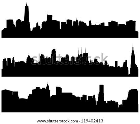 city skylines silhouette on