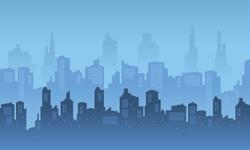 City Skyscraper with blue and bright sky