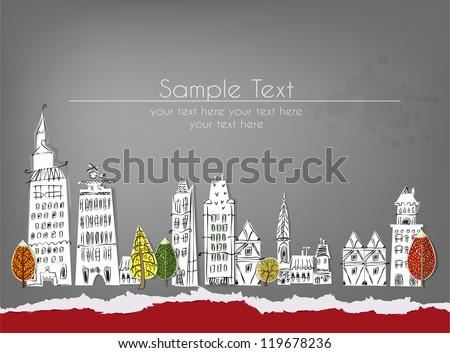 city street paper background