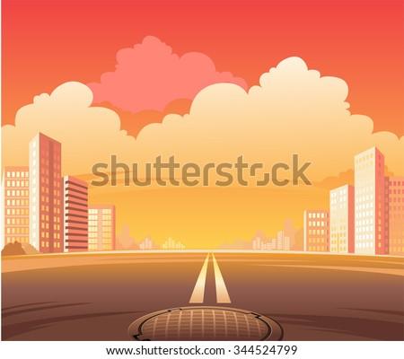 city street road  the scene of