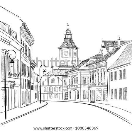 city street view cityscape