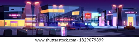city street with shops and