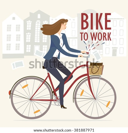 city style business lady riding