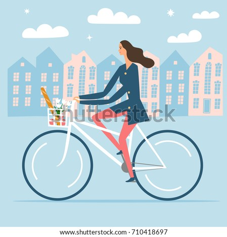 city style woman riding on a