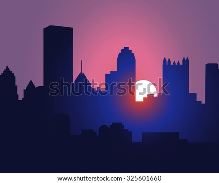 city sunset