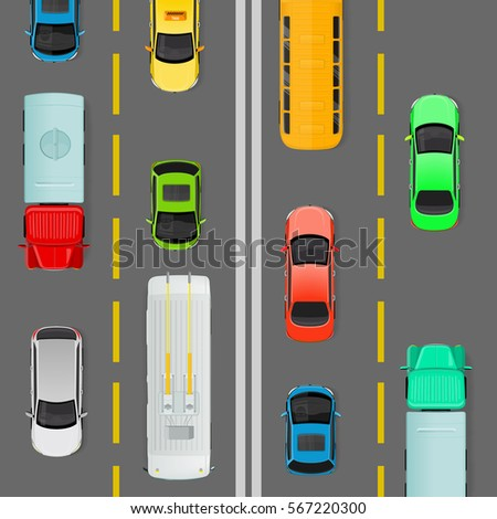 city traffic vector concept