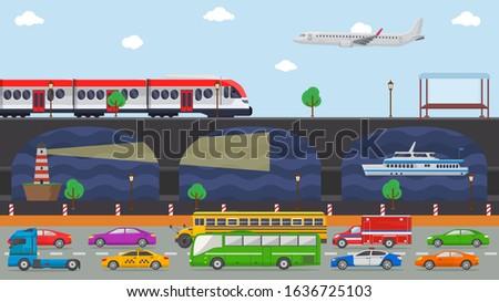 city transport concept vector