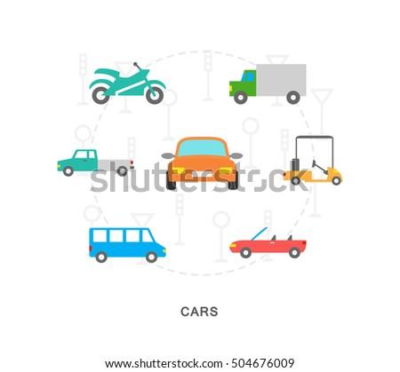 city transport icons