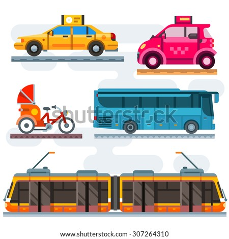 city transport set public