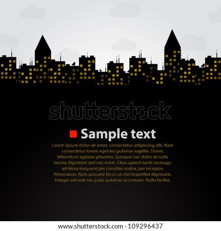 City vector background