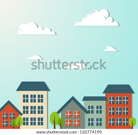 City vector illustration. - stock vector