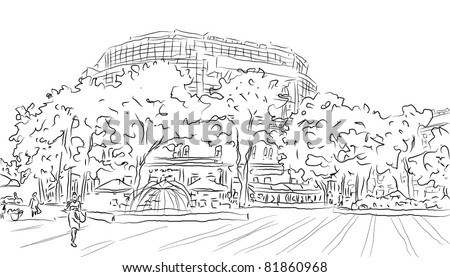 city vector landscape