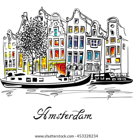 city view of amsterdam canal