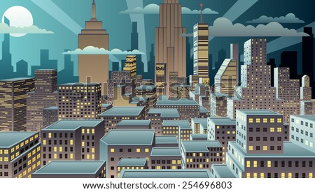 cityscape at night basic