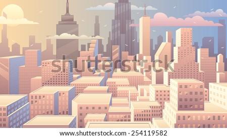 cityscape at sunrise. basic ...