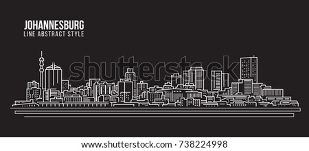 Johannesburg skyline silhouettes vector download free vector art premium vectors thecheapjerseys Image collections