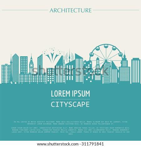 cityscape graphic template